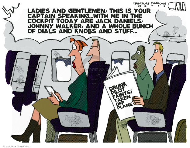 Steve Kelley  Steve Kelley's Editorial Cartoons 2017-01-03 airplane travel