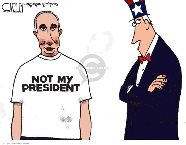 Steve Kelley  Steve Kelley's Editorial Cartoons 2017-01-10 Vladimir Putin