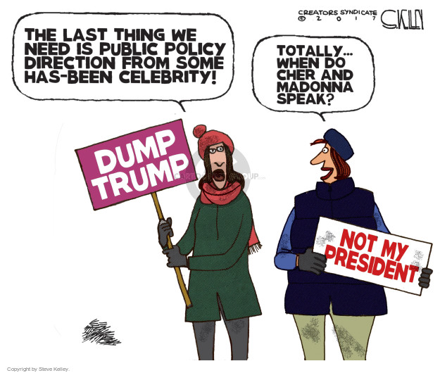 Steve Kelley  Steve Kelley's Editorial Cartoons 2017-01-24 protester