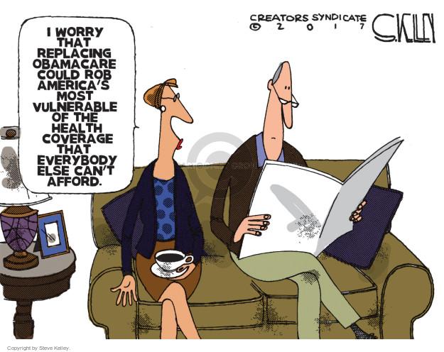 Cartoonist Steve Kelley  Steve Kelley's Editorial Cartoons 2017-03-09 congress health care