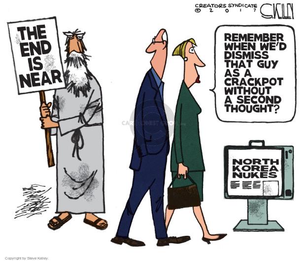 Cartoonist Steve Kelley  Steve Kelley's Editorial Cartoons 2017-04-17 weapon