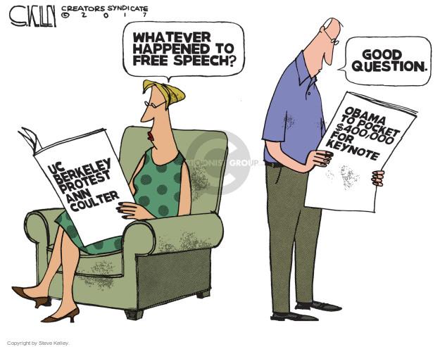 Steve Kelley  Steve Kelley's Editorial Cartoons 2017-04-25 Barack Obama