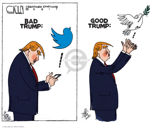 Steve Kelley  Steve Kelley's Editorial Cartoons 2017-05-23 peace