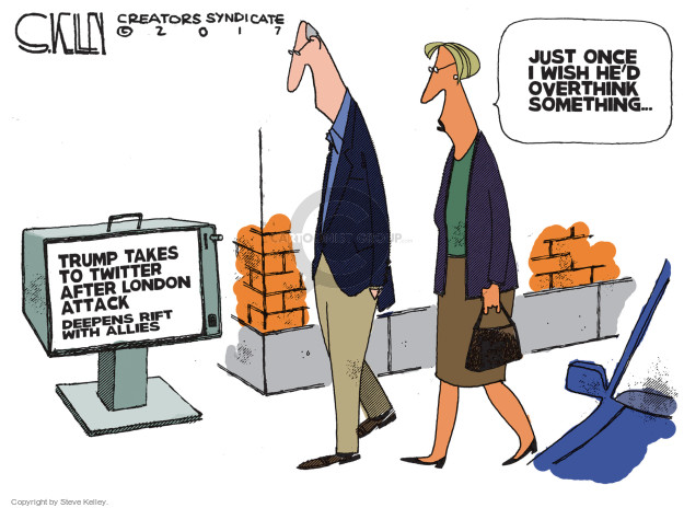 Cartoonist Steve Kelley  Steve Kelley's Editorial Cartoons 2017-06-06 social media