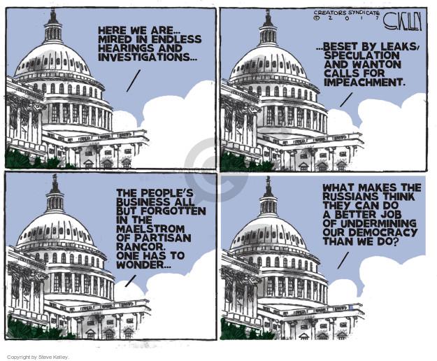 Cartoonist Steve Kelley  Steve Kelley's Editorial Cartoons 2017-06-13 congressional committee