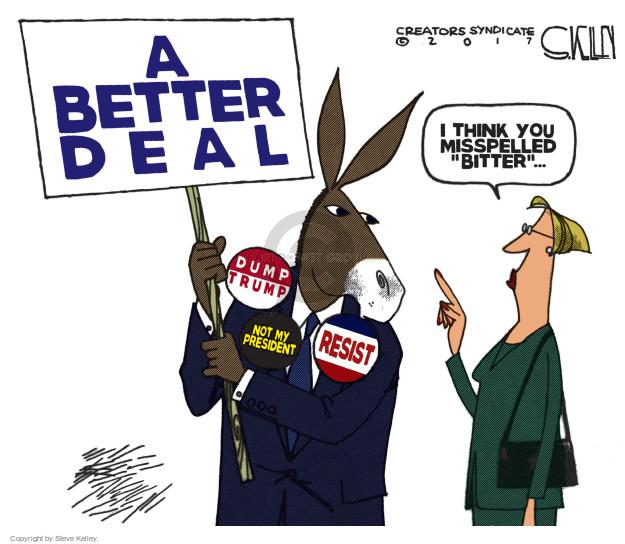 Cartoonist Steve Kelley  Steve Kelley's Editorial Cartoons 2017-07-25 left-wing
