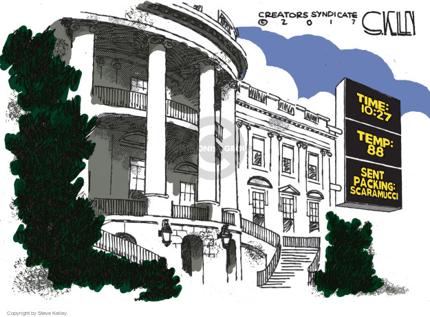 Cartoonist Steve Kelley  Steve Kelley's Editorial Cartoons 2017-08-01 fire