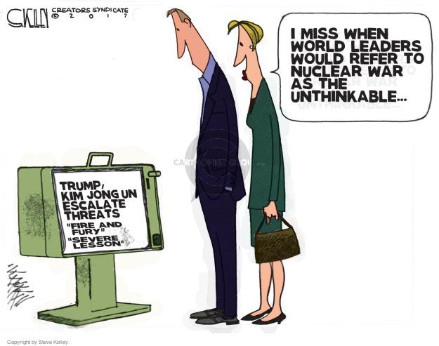 Cartoonist Steve Kelley  Steve Kelley's Editorial Cartoons 2008-10-17 threat