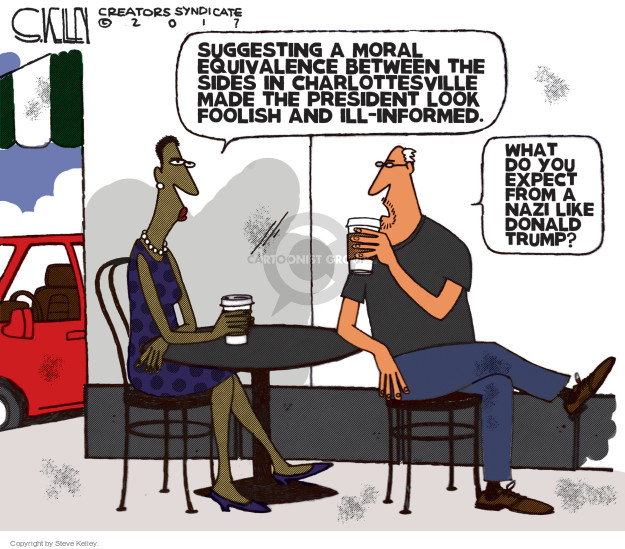 Cartoonist Steve Kelley  Steve Kelley's Editorial Cartoons 2017-08-22 president