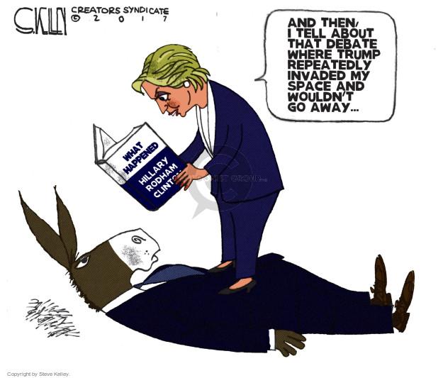 Steve Kelley  Steve Kelley's Editorial Cartoons 2017-08-24 debate