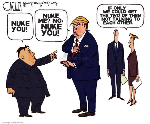 Cartoonist Steve Kelley  Steve Kelley's Editorial Cartoons 2017-09-21 weapon