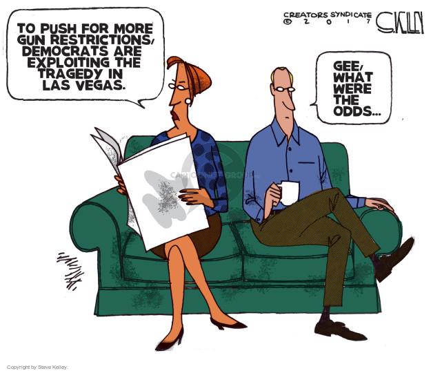 Cartoonist Steve Kelley  Steve Kelley's Editorial Cartoons 2017-10-03 gun rights