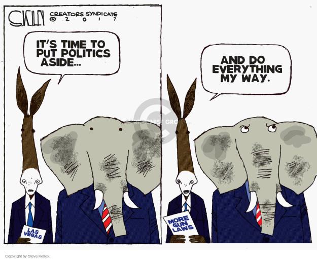 Cartoonist Steve Kelley  Steve Kelley's Editorial Cartoons 2017-10-05 violent