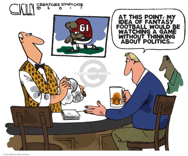 Cartoonist Steve Kelley  Steve Kelley's Editorial Cartoons 2017-10-17 football game