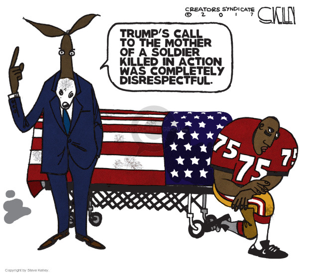 Steve Kelley  Steve Kelley's Editorial Cartoons 2017-10-19 football player