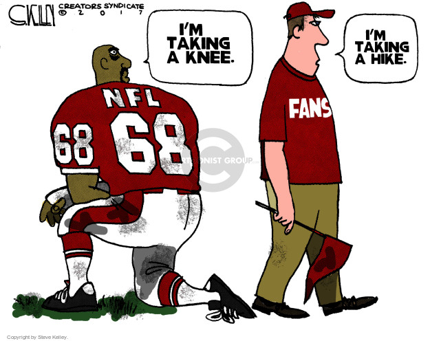 Steve Kelley  Steve Kelley's Editorial Cartoons 2017-12-05 football player