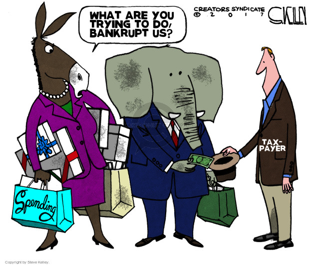 What are you trying to do, bankrupt us? Taxpayer. Spending.