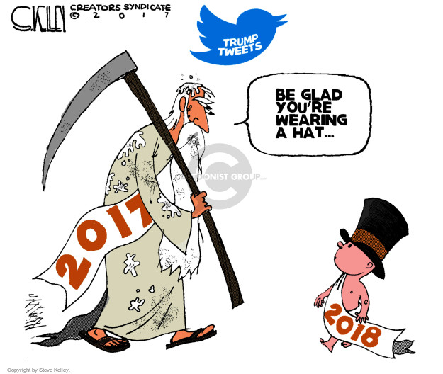 Cartoonist Steve Kelley  Steve Kelley's Editorial Cartoons 2018-01-02 new hat