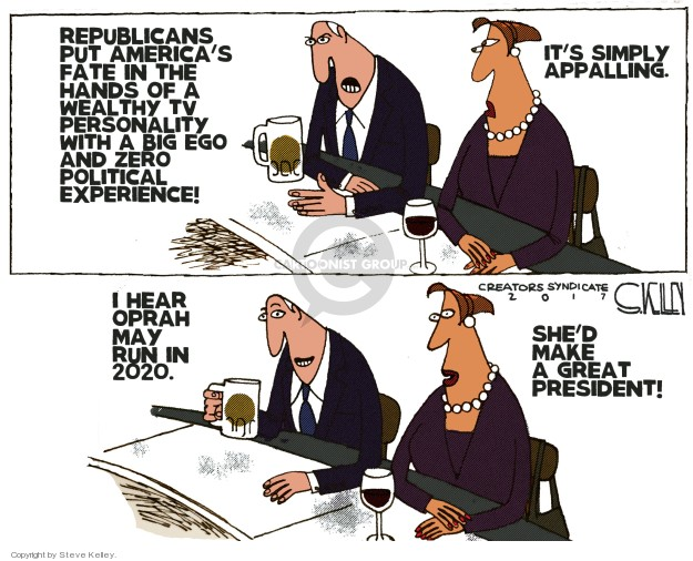 Cartoonist Steve Kelley  Steve Kelley's Editorial Cartoons 2018-01-09 big