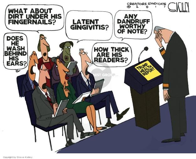 Cartoonist Steve Kelley  Steve Kelley's Editorial Cartoons 2018-01-18 president