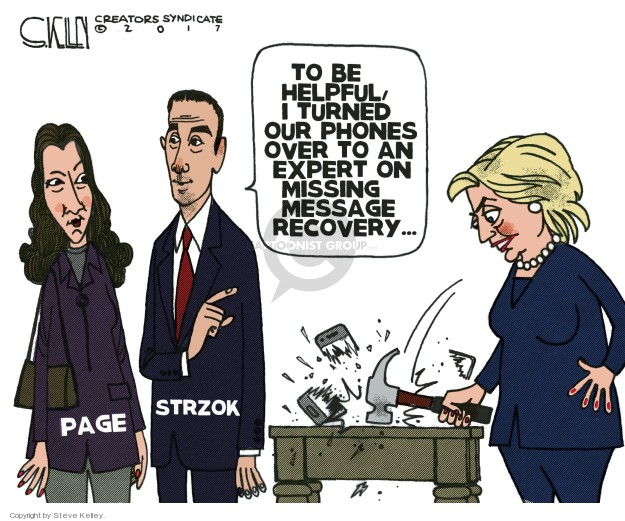Cartoonist Steve Kelley  Steve Kelley's Editorial Cartoons 2018-01-25 investigation