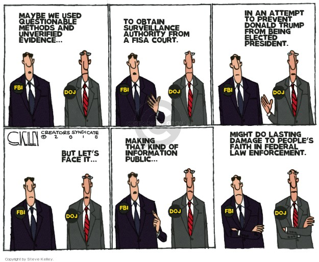 Cartoonist Steve Kelley  Steve Kelley's Editorial Cartoons 2018-02-01 investigation