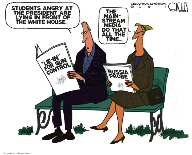Cartoonist Steve Kelley  Steve Kelley's Editorial Cartoons 2018-02-20 Donald Trump media