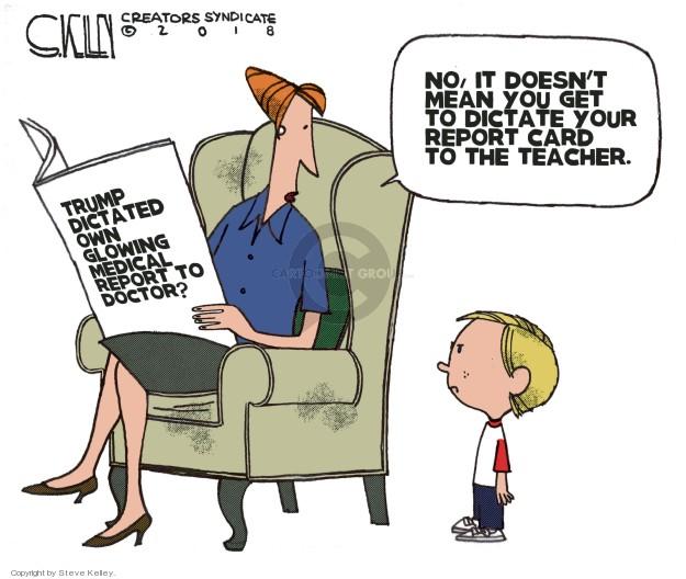 Steve Kelley  Steve Kelley's Editorial Cartoons 2018-05-03 Trump doctor