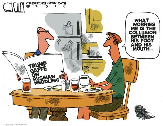 Cartoonist Steve Kelley  Steve Kelley's Editorial Cartoons 2018-07-19 word