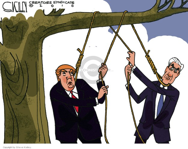 Cartoonist Steve Kelley  Steve Kelley's Editorial Cartoons 2018-08-02 collusion