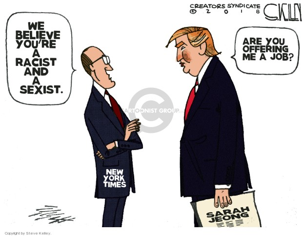 Steve Kelley  Steve Kelley's Editorial Cartoons 2018-08-06 discrimination