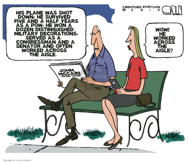 Steve Kelley  Steve Kelley's Editorial Cartoons 2018-08-28 wow