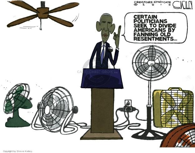 Steve Kelley  Steve Kelley's Editorial Cartoons 2018-09-10 Barack Obama