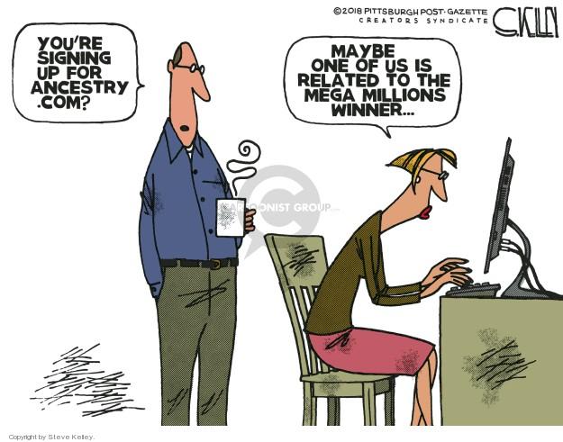 Steve Kelley  Steve Kelley's Editorial Cartoons 2018-10-24 political family