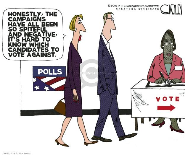 Steve Kelley  Steve Kelley's Editorial Cartoons 2018-11-04 poll