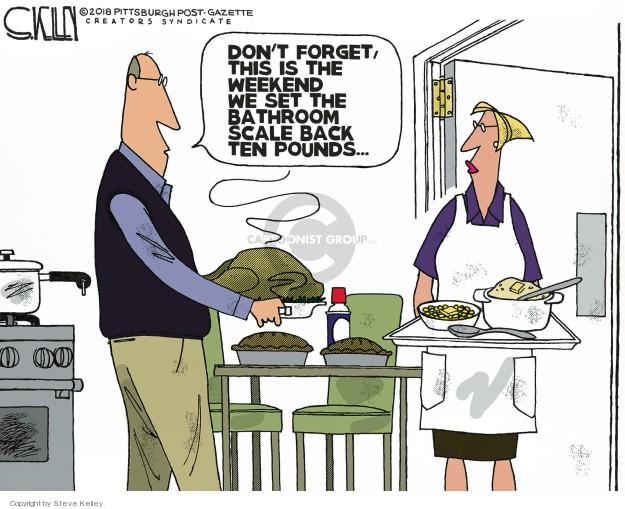 Cartoonist Steve Kelley  Steve Kelley's Editorial Cartoons 2018-11-22 food
