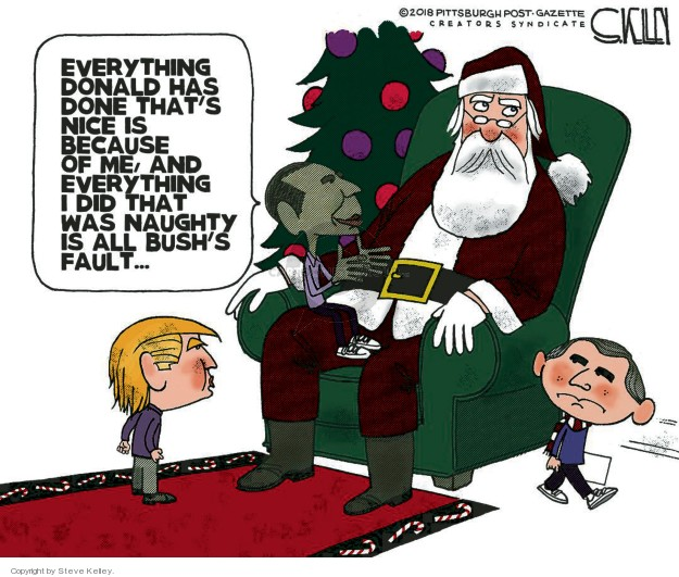 Steve Kelley  Steve Kelley's Editorial Cartoons 2018-12-02 Barack Obama