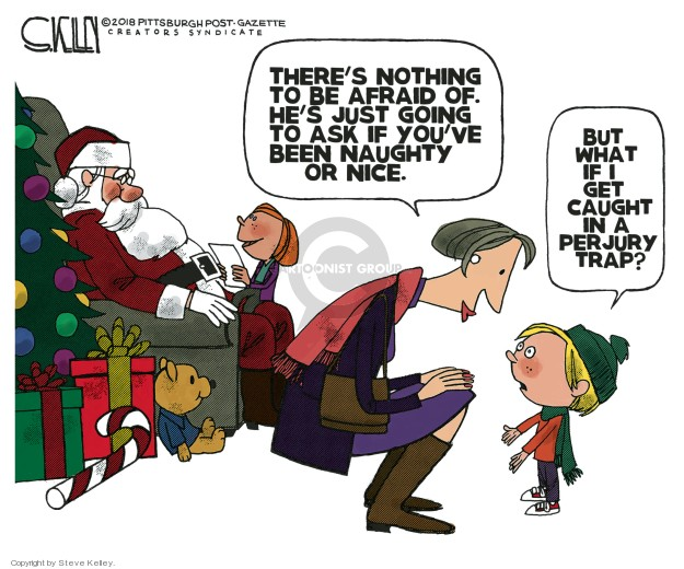 Cartoonist Steve Kelley  Steve Kelley's Editorial Cartoons 2018-12-09 Santa Claus
