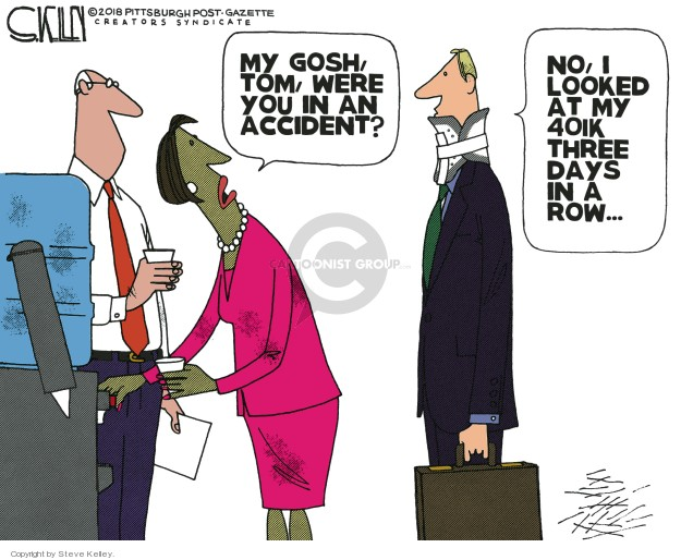 Steve Kelley  Steve Kelley's Editorial Cartoons 2018-12-30 stock market