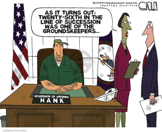 Cartoonist Steve Kelley  Steve Kelley's Editorial Cartoons 2019-02-10 twenty