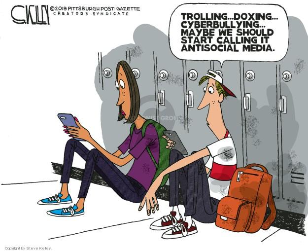 Cartoonist Steve Kelley  Steve Kelley's Editorial Cartoons 2019-02-17 social media