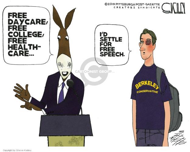 Cartoonist Steve Kelley  Steve Kelley's Editorial Cartoons 2019-02-25 left-wing
