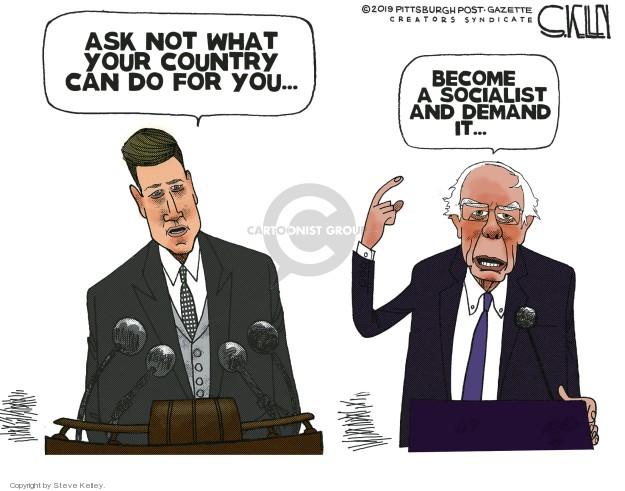 Steve Kelley  Steve Kelley's Editorial Cartoons 2019-02-27 Bernie Sanders