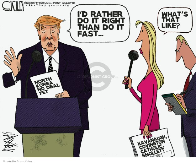 Cartoonist Steve Kelley  Steve Kelley's Editorial Cartoons 2019-03-03 weapon