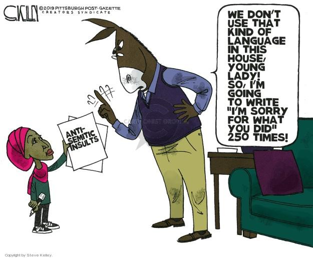 Cartoonist Steve Kelley  Steve Kelley's Editorial Cartoons 2019-03-10 left-wing