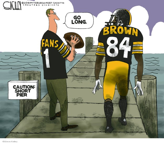 Steve Kelley  Steve Kelley's Editorial Cartoons 2019-03-13 football