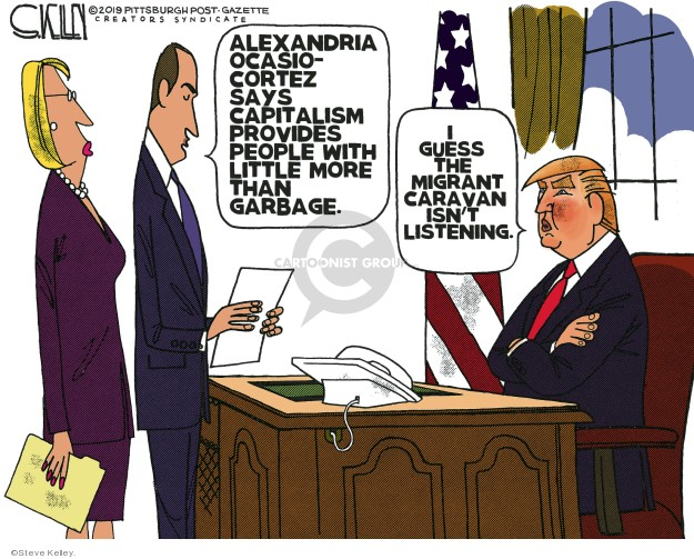 Cartoonist Steve Kelley  Steve Kelley's Editorial Cartoons 2019-03-14 Trump Immigration