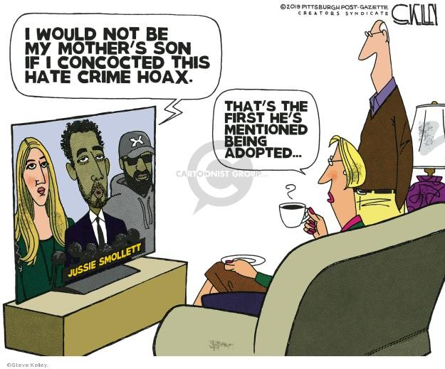 Steve Kelley  Steve Kelley's Editorial Cartoons 2019-03-28 accusation