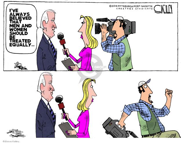 Cartoonist Steve Kelley  Steve Kelley's Editorial Cartoons 2019-04-03 Joe Biden