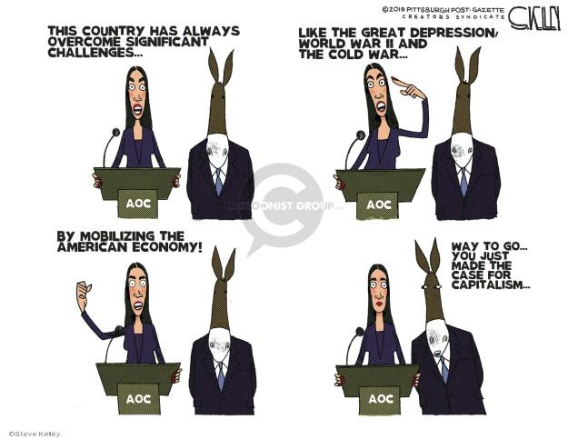 Cartoonist Steve Kelley  Steve Kelley's Editorial Cartoons 2019-04-05 left-wing